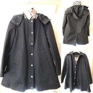 Burberry Brit black jacket coat sz 8 US like new